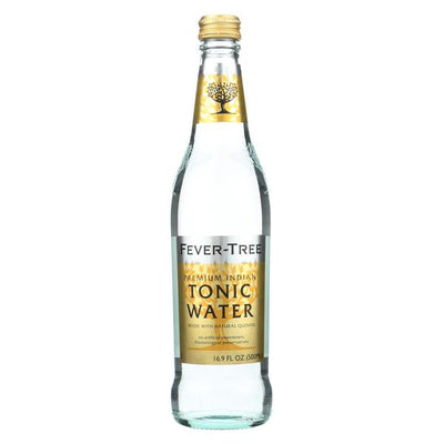 A 16.9 fl oz Fever-Tree Tonic Water.