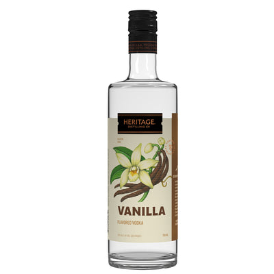 A 750ml bottle of HDC Vanilla Vodka.