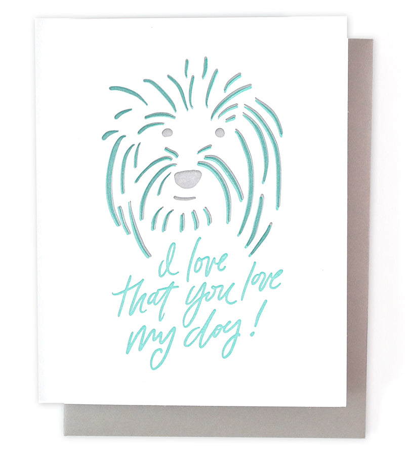 Thimblepress - Love My Dog Single Card