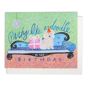 Party Like A Doodle Greeting Card