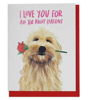 Thimblepress - Puppy Love Greeting Card