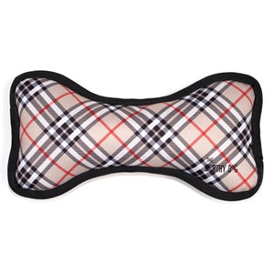 Bias Plaid Tan Bone Toy