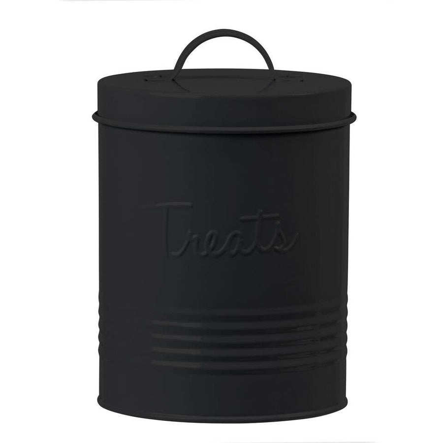 Retro Treat Canister- Matte Black