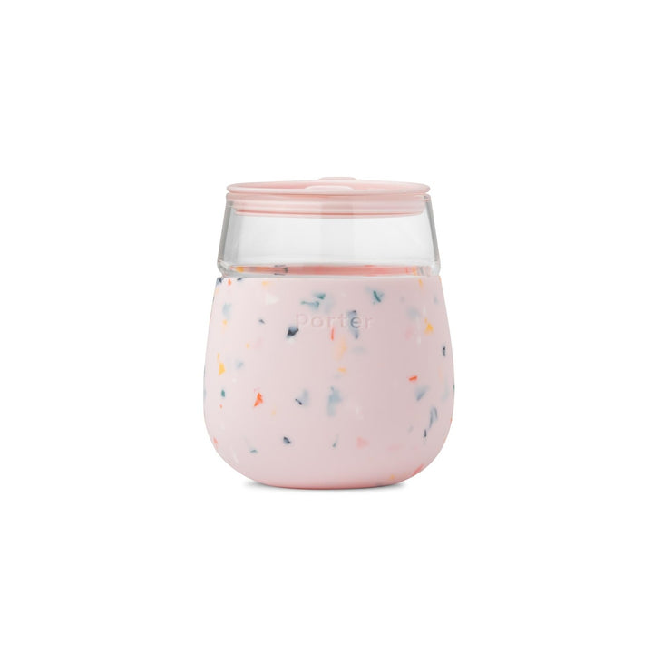 Porter Glass - Terrazzo in Blush - perfect for wine and cocktails!