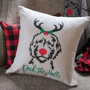 Deck the Halls Reindood Pillow Cover