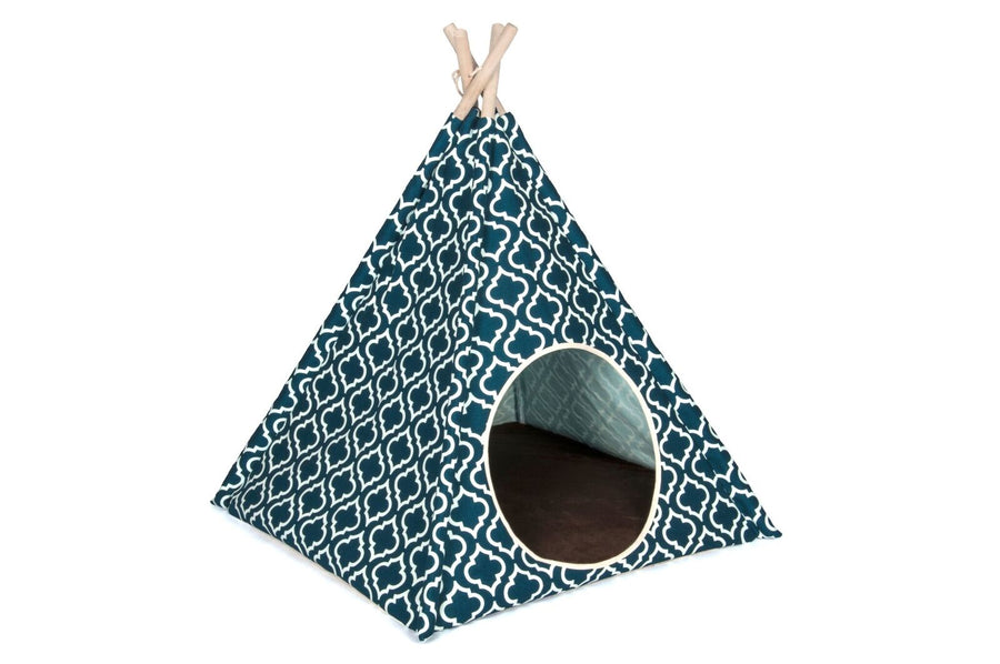 Moroccan Navy Teepee Tent