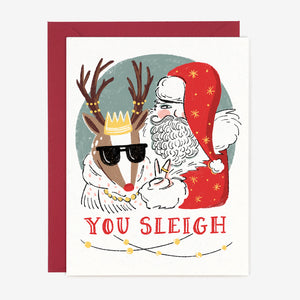 Paper Pony Co. - You Sleigh Christmas Card