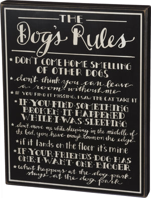 Dog's Rules - Box Sign