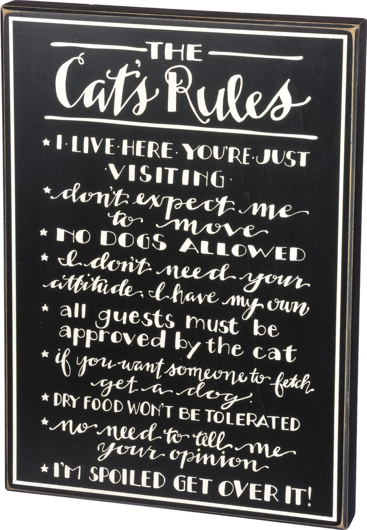 Cat's Rules - Box Sign