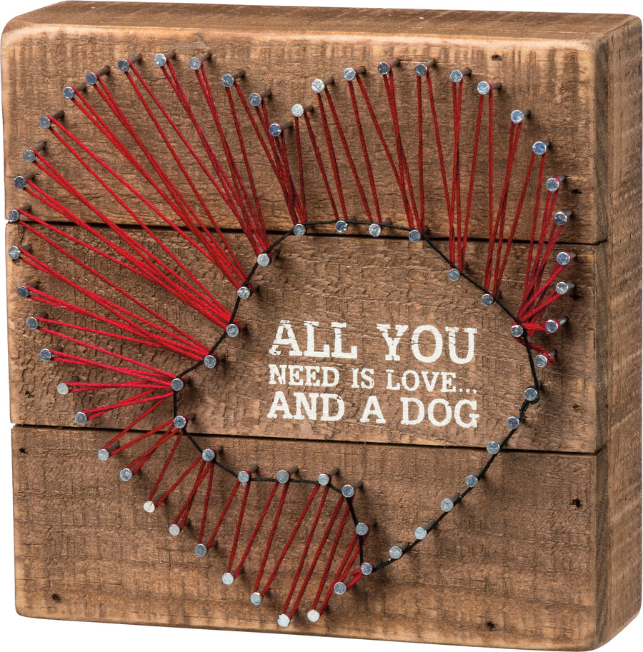 All You Need is Love and A Dog String Art