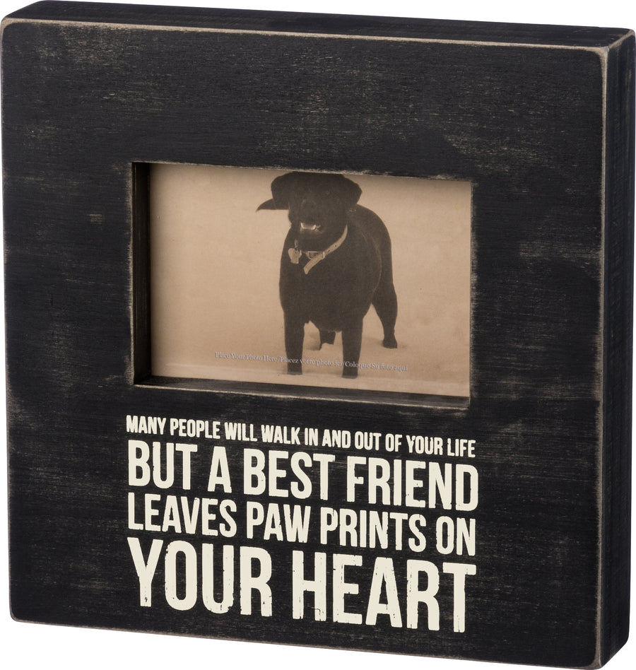 Leaves Paw Prints On Your Heart Frame
