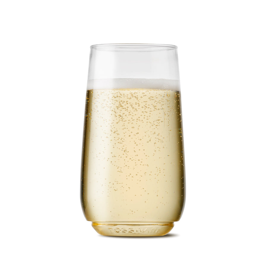 Tossware - 6oz Flute Jr SET OF 12 - Recyclable Champagne Plastic Cup