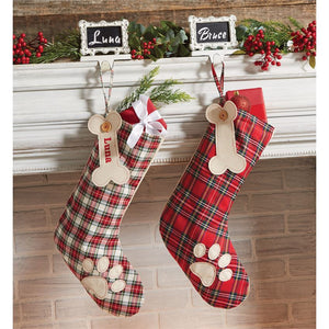 Personalized Plaid Stocking