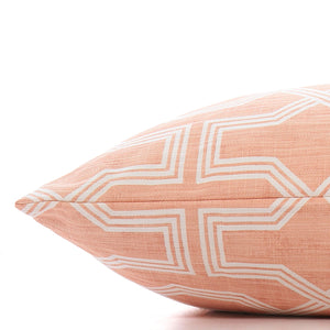 The Foggy Dog - Trellis Peachy Pink Dog Bed-Medium