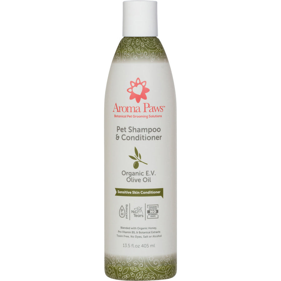 Dog Shampoo and Conditioner 13.5 oz Organic Olive Oil