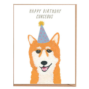 Fawn Paper Co - Corgi Birthday Card
