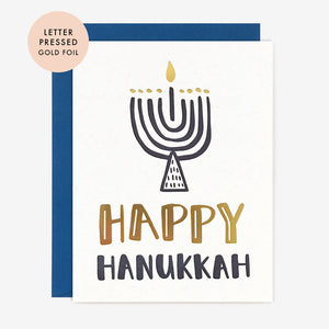 Hanukkah Menorah Card