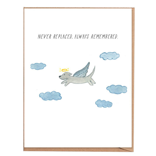 Fawn Paper Co - Always Remembered Dog Condolences Card