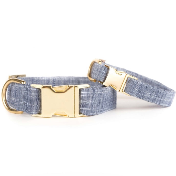 The Foggy Dog - Chambray Dog Collar