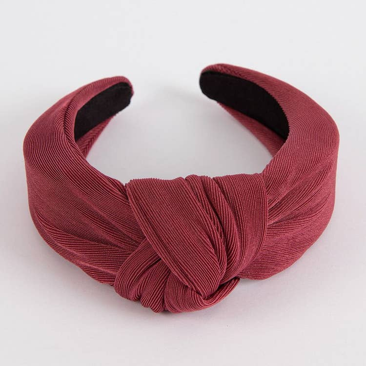 Knotted Headband - Cranberry