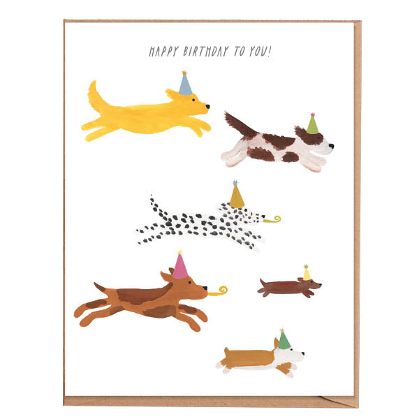 Fawn Paper Co - Pups Birthday Card