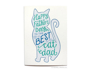 Hennel Paper Co. - Happy Father's Day Card From The Cat