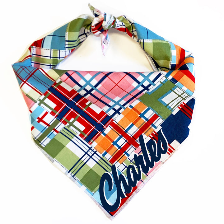 Summer Madras Dog Bandana
