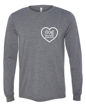 Dog Mom Heart Long Sleeve T-shirt