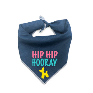 Hip Hip Hooray Dog Bandana