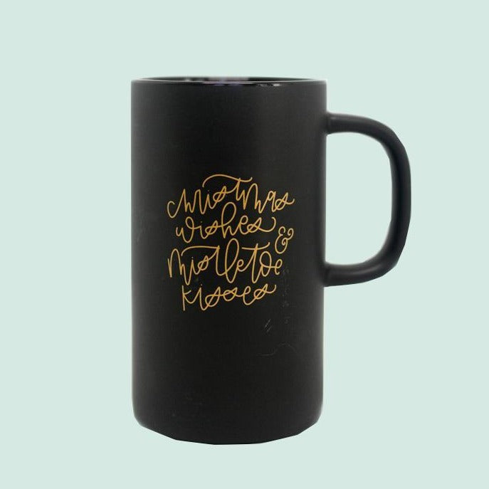 Christmas Wishes + Mistletoe Kisses Mug