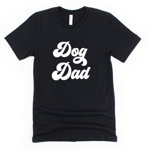 Dog Dad Dark Black Crewneck T-Shirt