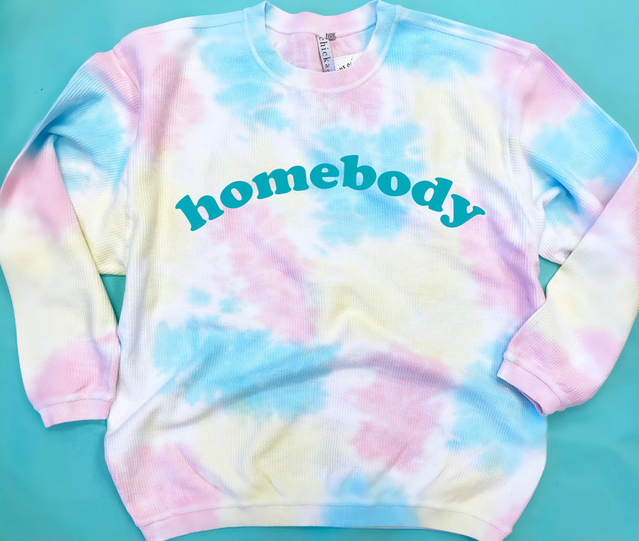 Homebody Tie Dye Corded Sweatshirt