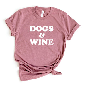 Dogs & Wine Crewneck T-Shirt