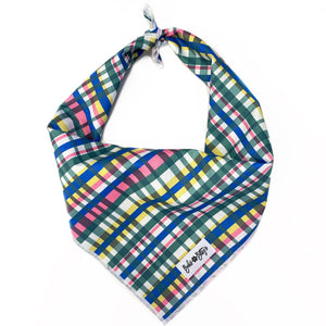 Summer Plaid Dog Bandana