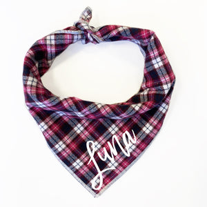 Pink Autumn Dog Bandana