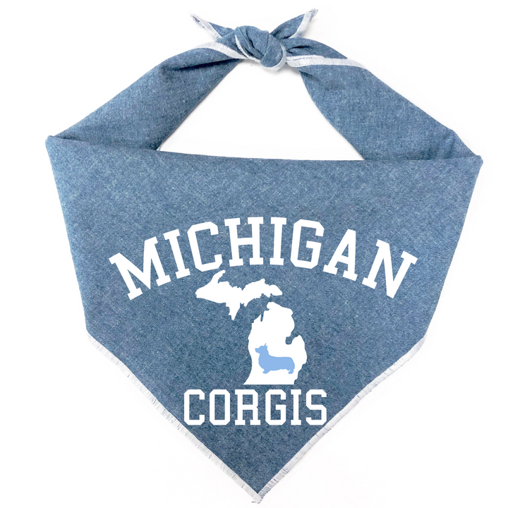 Michigan Corgis Dog Bandana