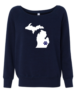 State Pawsome Slouchy Sweatshirt - customizable for all states!