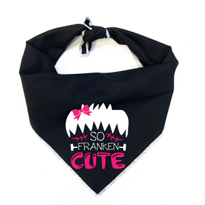 So Franken Cute Pink Dog Bandana