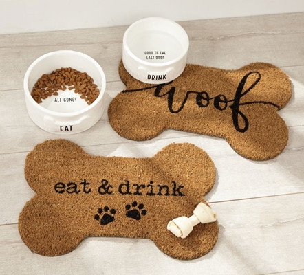 Dog Bone Shaped Place Mats
