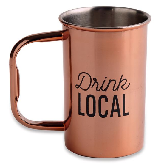 Drink Local Stainless Steel Beer Stein