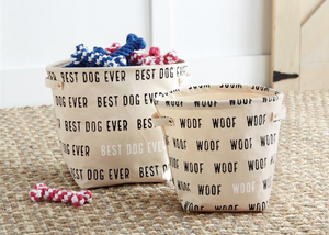Canvas Dog Toy Bins
