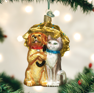 Raining Cats and Dogs Ornament