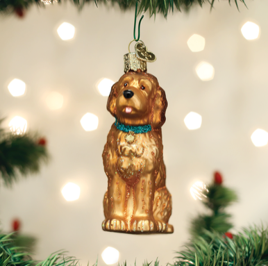 Red Doodle Dog Ornament