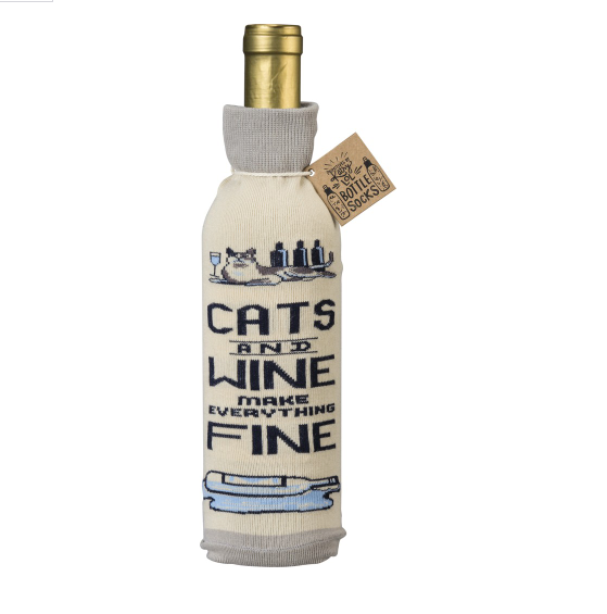 Cats and Wine Make Everything Fine - Bottle Sock