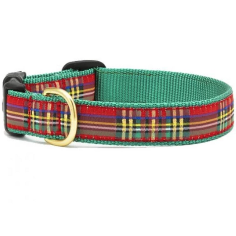 Christmas Sparkle Plaid Collar