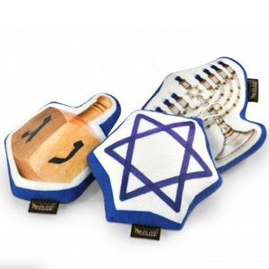 Hanukkah 3-Pc Plush Toy Set