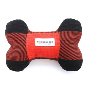 Check Dog Bone Squeaky Toy