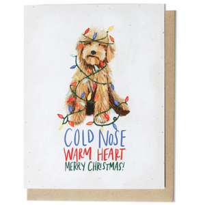 Cold Nose Christmas Greeting Card
