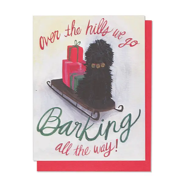 Barking All The Way Card