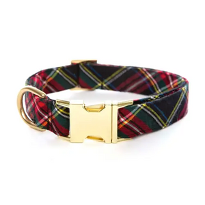 Stewart Plaid Dog Collar